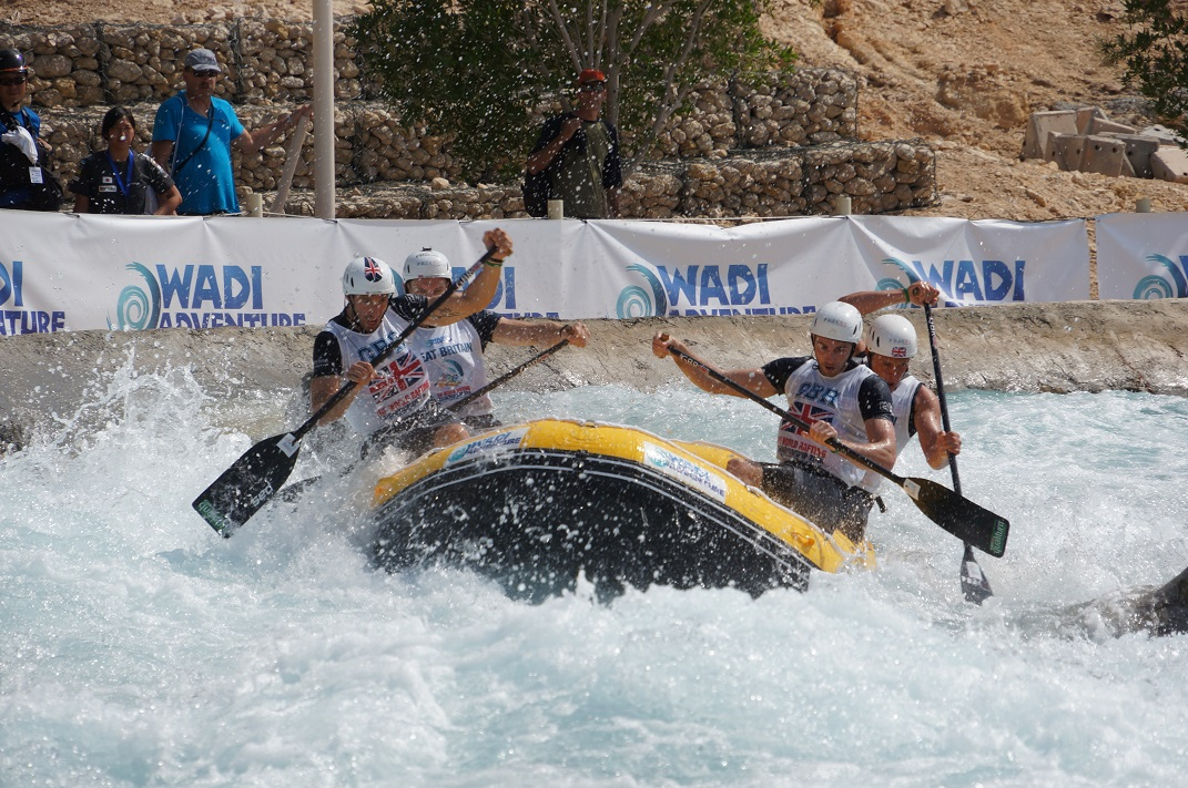 GB mens rafting team in action